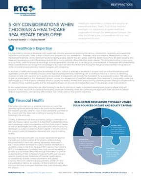 BP - 5 Key Considerations When Choosing a Healthcare Real Estate Developer-1