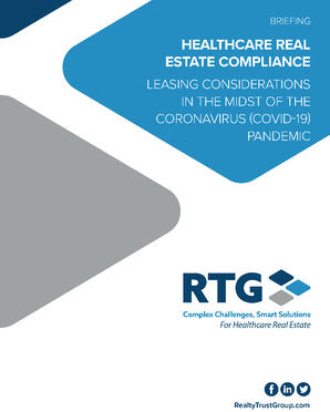 Briefing - HCRE Compliance Leasing Considerations in the Midst of COVID-19-1